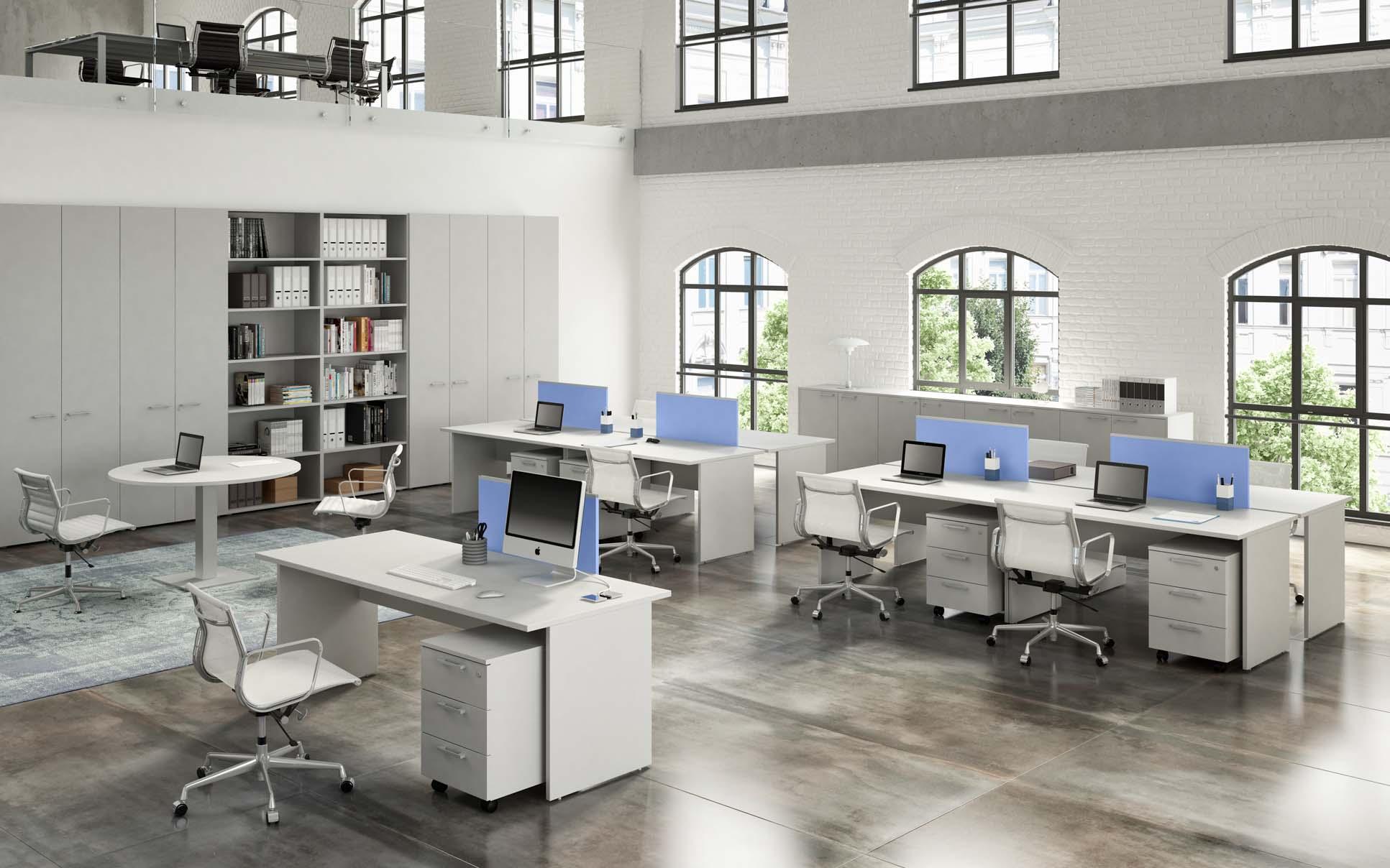 Arredamento uffici operativi - scrivanie condivise