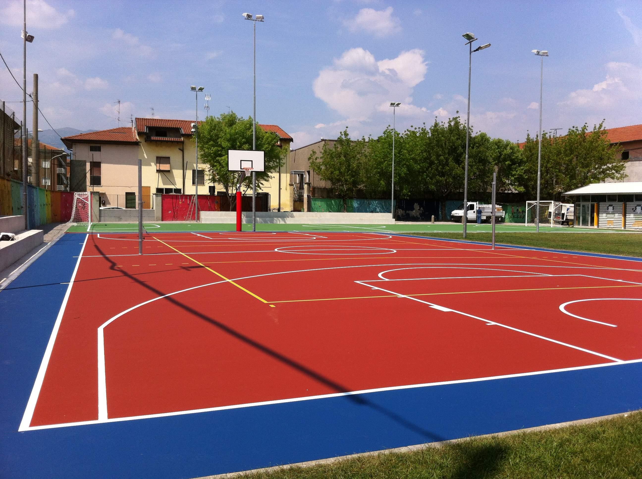Pavimentazione sportiva basket e pallavolo