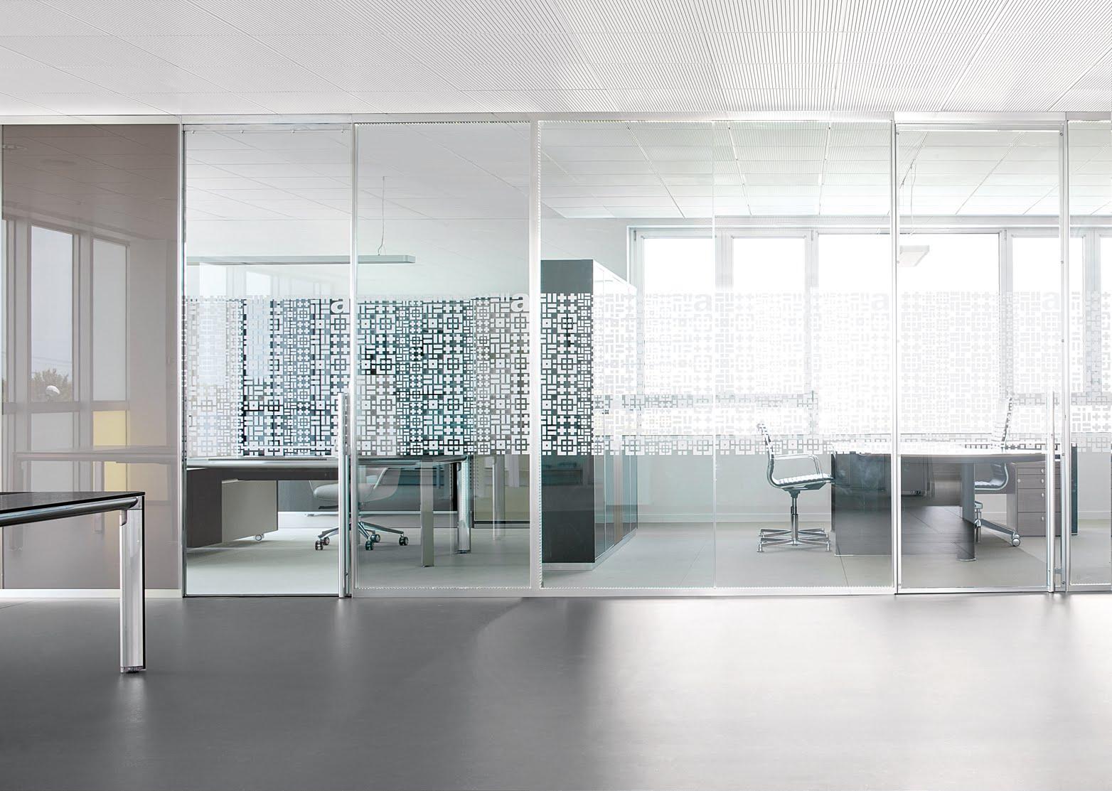 parete divisoria cristallo serie WWW